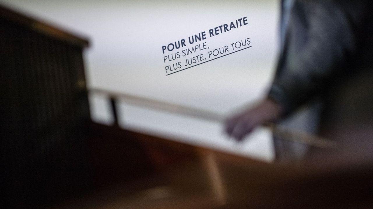 Lors de la présentation de la réforme du système universel de retraite par Edouard Philippe.