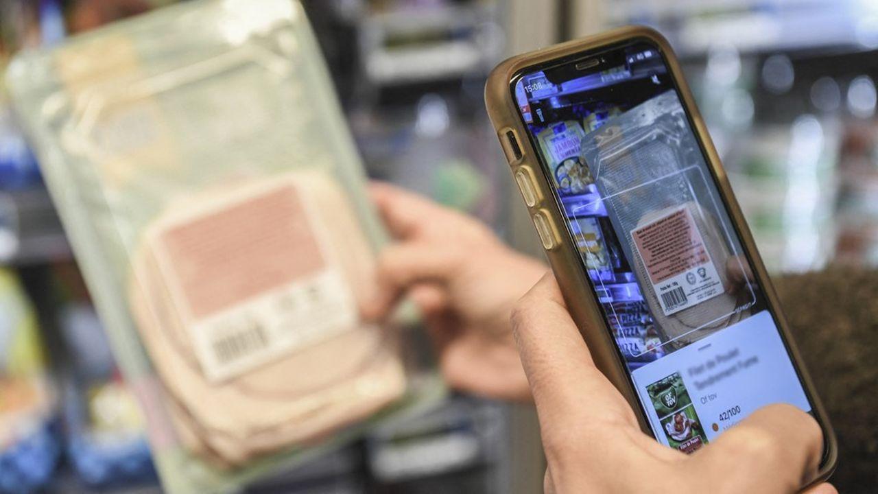 Yuka revendique 23millions d'utilisateurs de son appli dans le monde, dont six millions réguliers.