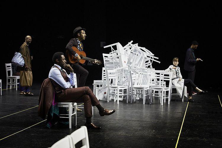 Répétition de «La Cerisaie», dans une mise en scène de Tiago Rodrigues, qui sera présentée à Avignon, cet été.