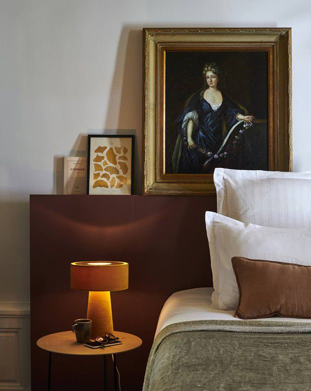 Une chambre de la « Maison du Val » à Saint-Germain-en-Laye.