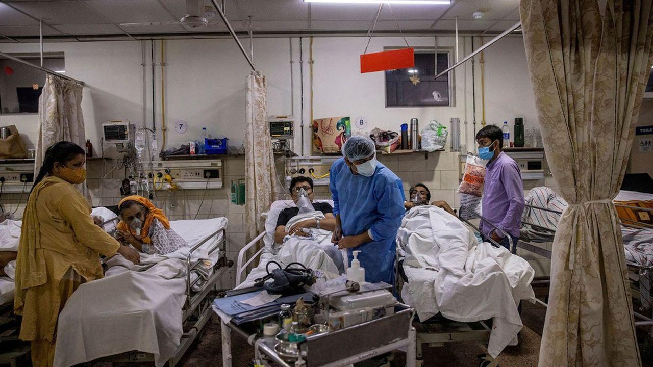 L'hôpital Holy Family, à New Delhi, où des patients atteints du Covid sont soignés.