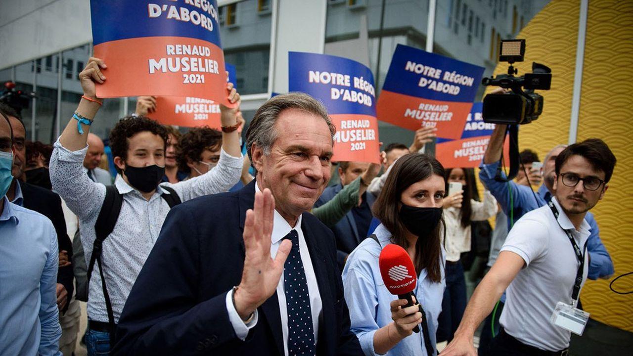 Renaud Muselier a obtenu 31,9% des voix au premier tour, 4,5 points derrière le RN.