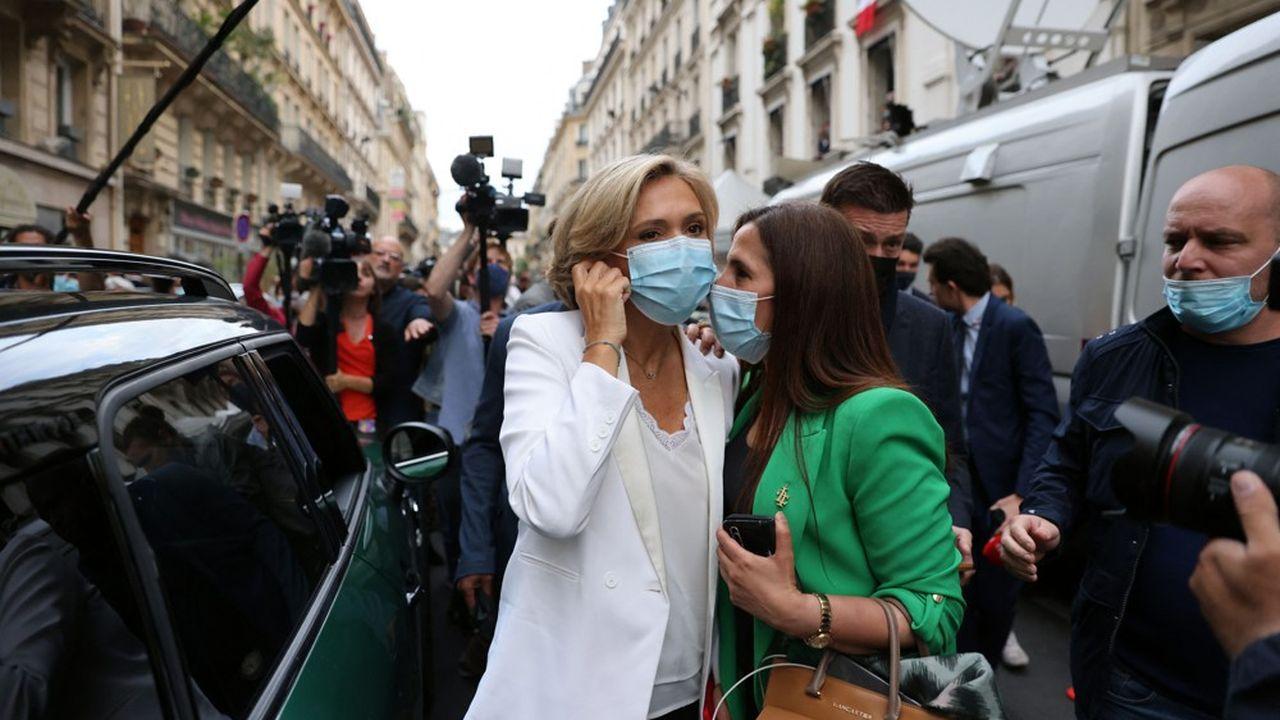 Valérie Pécresse quitte le siège de son parti ce dimanche après l'annonce des résultats.