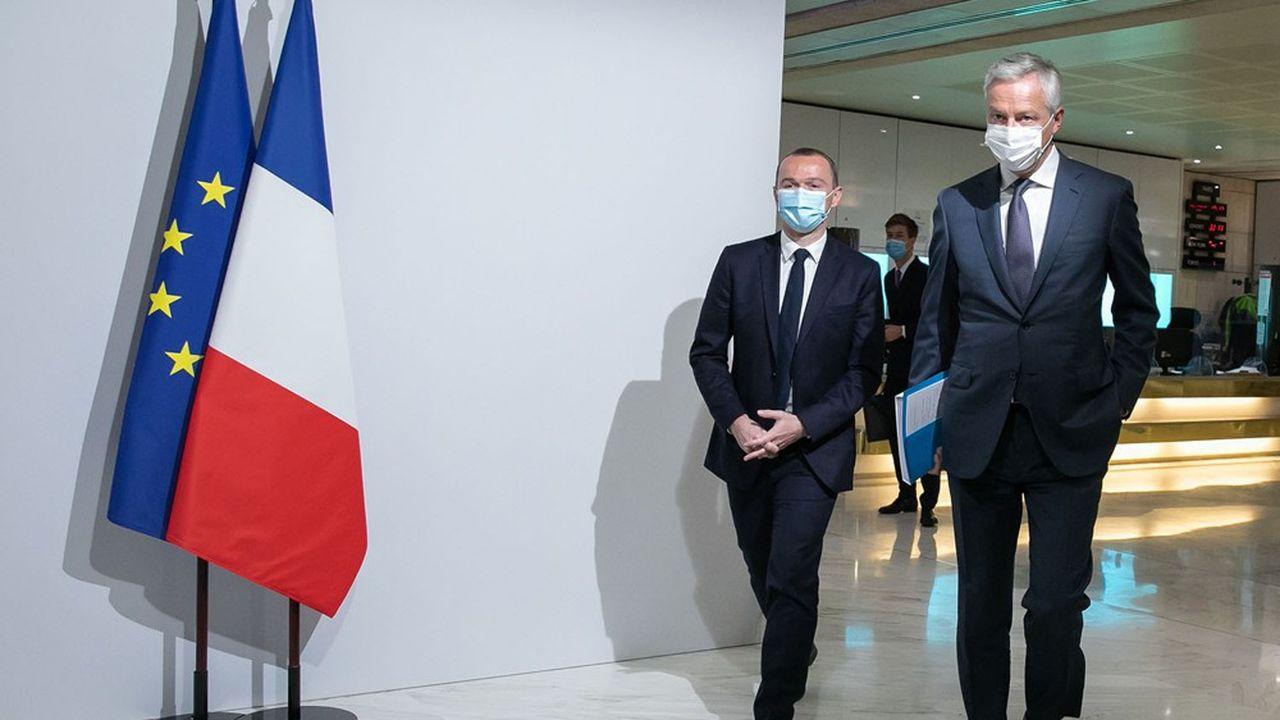 Bruno Le Maire et Olivier Dussopt ont sensibilisé leurs collègues à la fin du «quoi qu'il en coûte» lors du dernier Conseil des ministres.