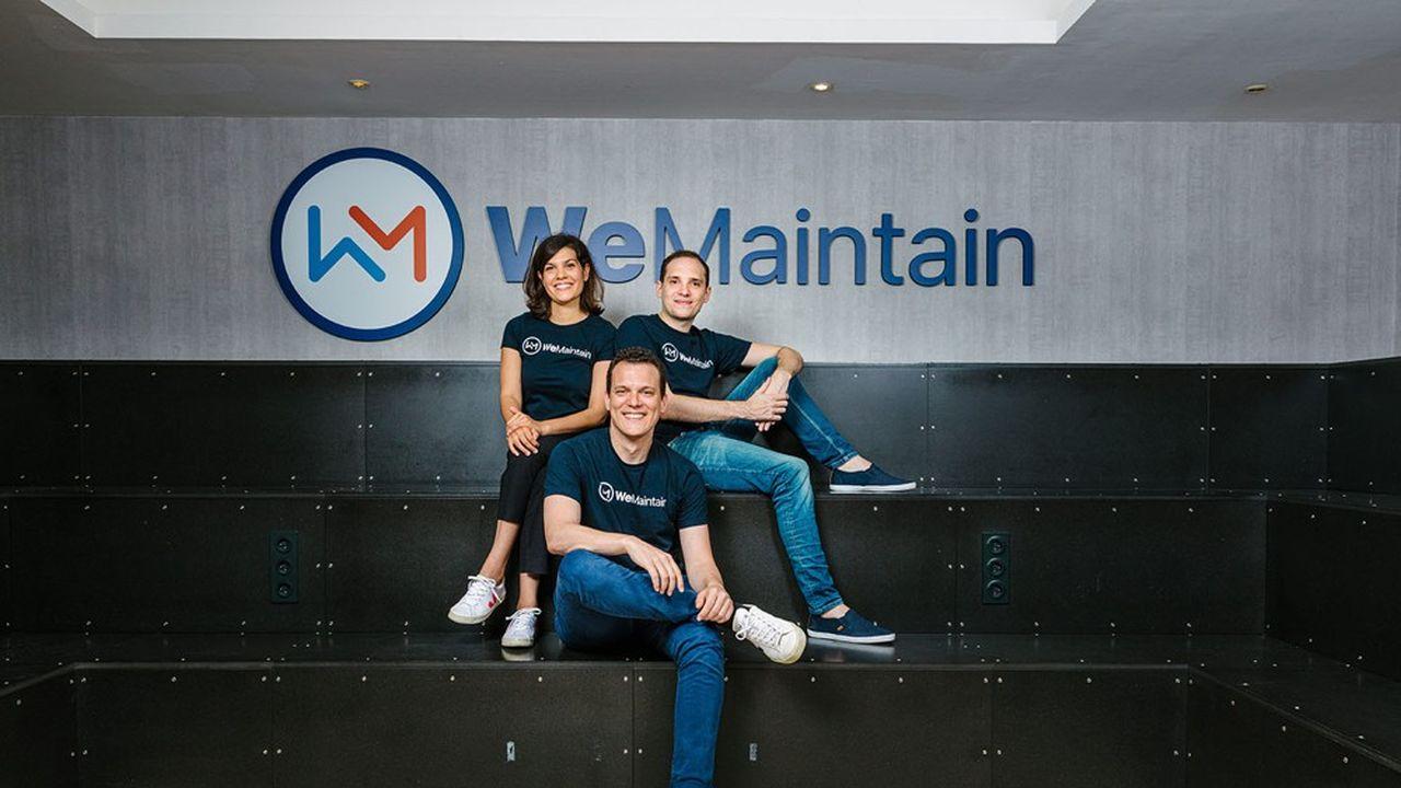 Jade Francine, Benoît Dupont et Tristan Foureur sont les cofondateurs de WeMaintain.