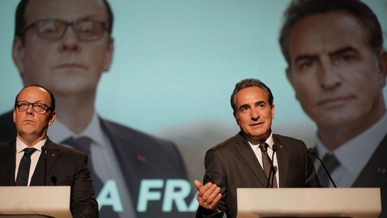 Grégory Gadebois et Jean Dujardin en ex-présidents au bout du rouleau.