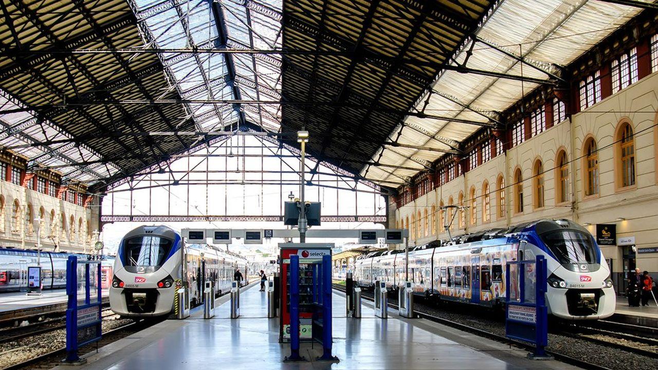 La gare Saint-Charles à Marseille. Le préavis de grève de 24heures lancé par la CGT concerne toutes les activités du groupe ferroviaire.