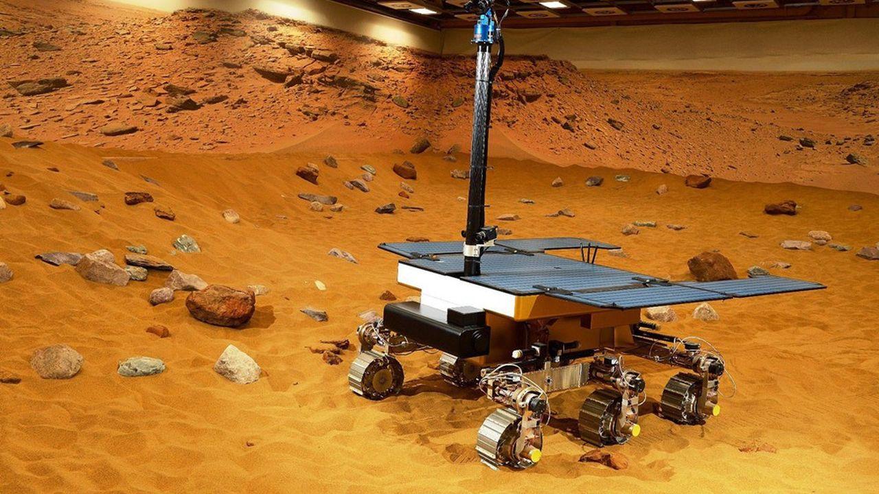 Le prototype de la mission ExoMars que l'ESA compte envoyer sur la Planète rouge dans quelques années.