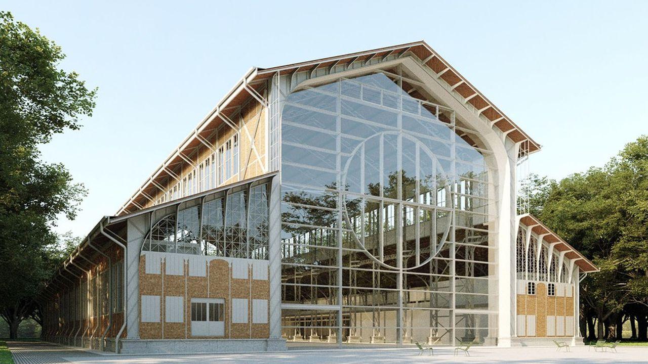 Avec ses 70 mètres de long et ses 22 mètres de haut, le Hangar Y est le plus grand hangar à dirigeable du monde.