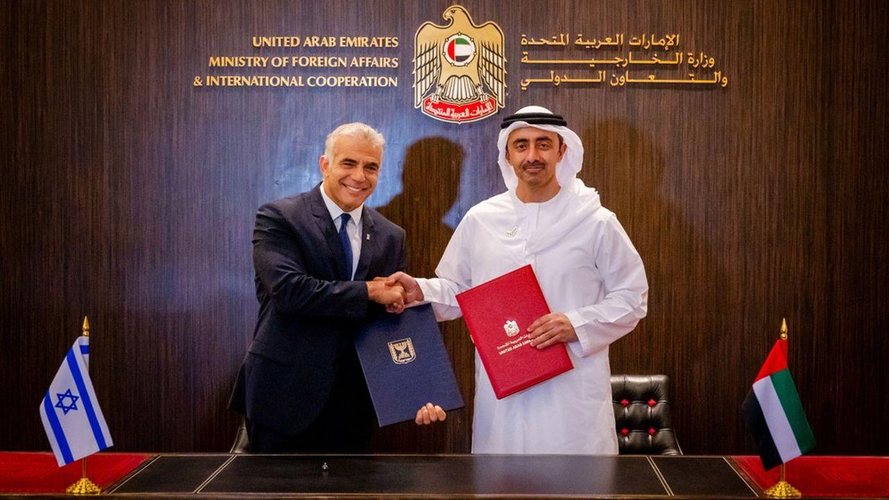 Le nouveau chef de la diplomatie israélienneYaïr Lapid s'est entretenu durant trois heures avec son homologue, Sheikh Abdallah ben Zayed Al-Nahyane.