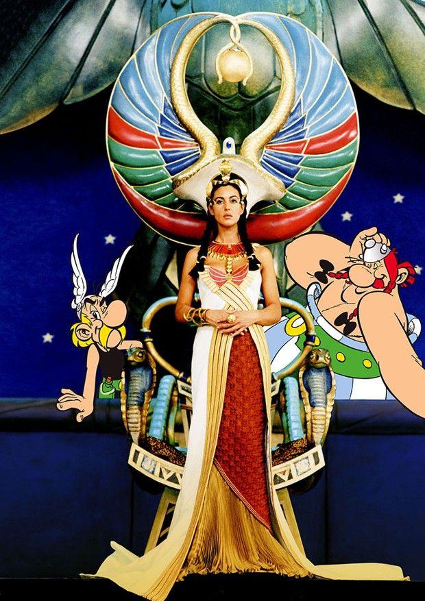 Monica Bellucci, dans «Astérix et Obélix : Mission Cléopâtre », à retrouver dans l'exposition consacrée à Goscinny au palais des festivals.