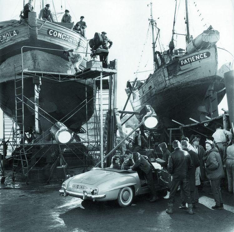 Sur le plateau de «Pêcheurs d'Islande» (1959), film de Pierre Schoendoerffer.