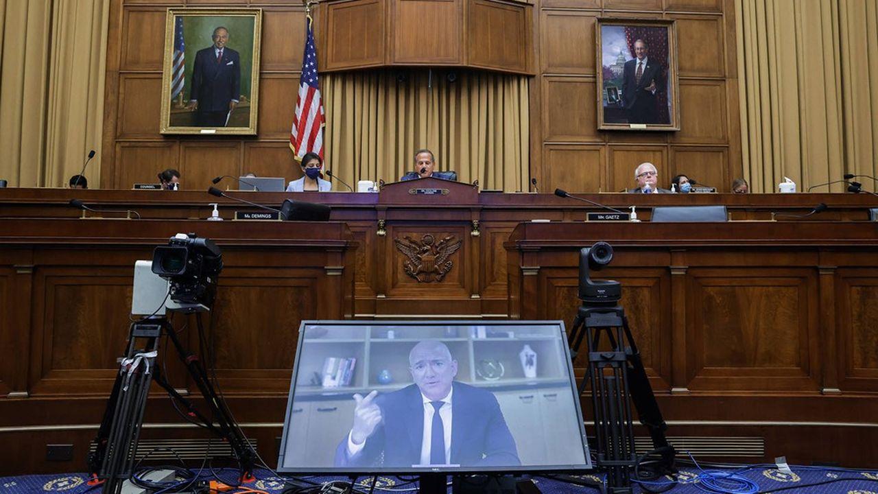Jeff Bezos, lors d'une audition au Congrès en juillet2020.