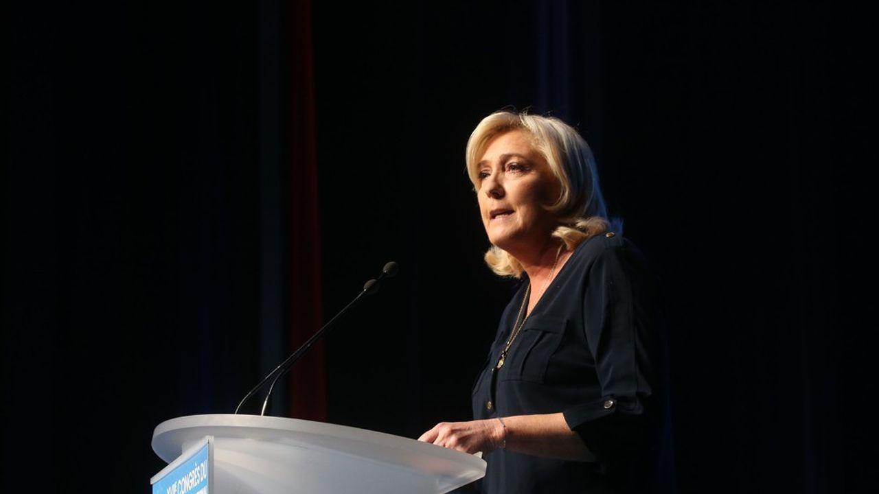 Lors de son discours au Congrès du RN à Perpignan, Marine Le Pen a souligné avoir «féminisé» les instances du parti.