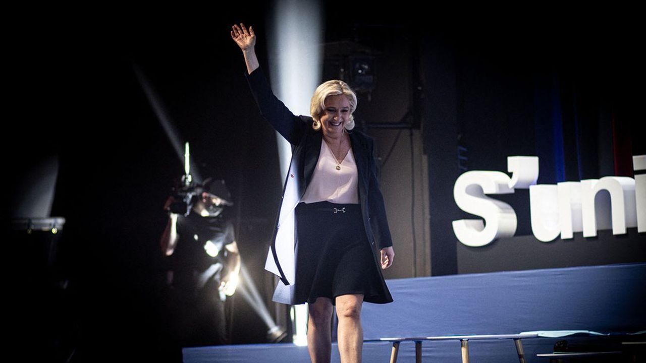 Marine Le Pen ce dimanche à Perpignan.