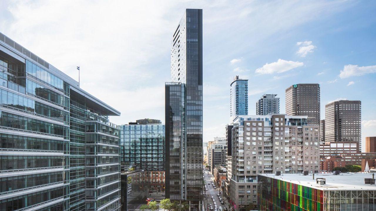 La tour Humaniti, à Montréal, où se situe l'hôtel de Batipart. L'Amérique du Nord constitue un axe de développement pour le groupe.