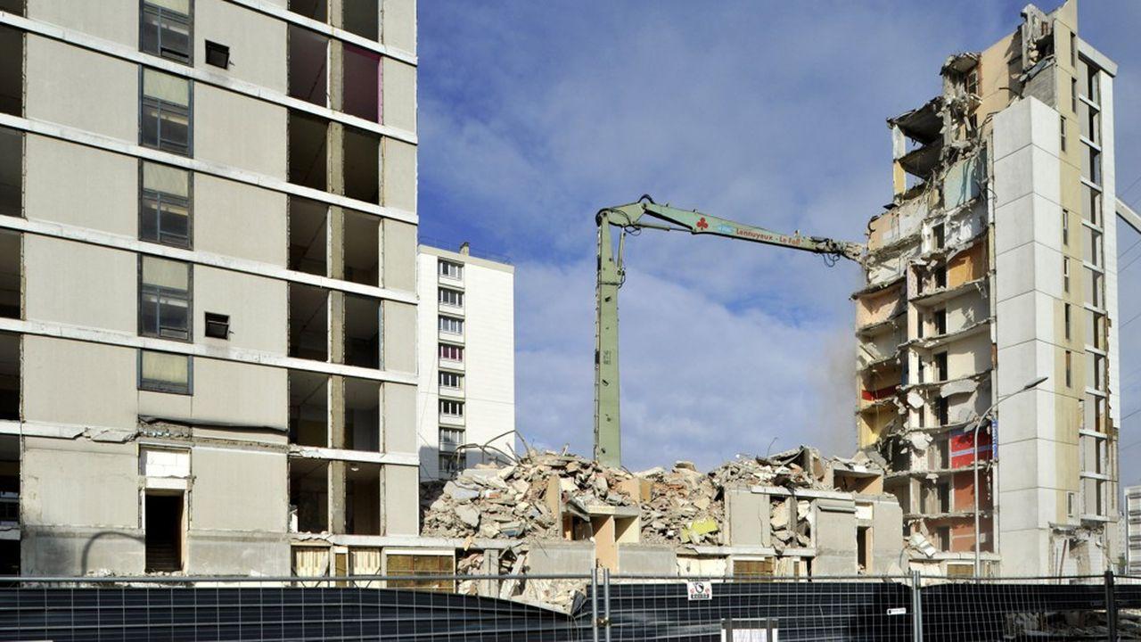 Avec le programme d'Action Logement lancé fin 2019, 20.000 logements sociaux ont été démolis dans les «zones détendues».