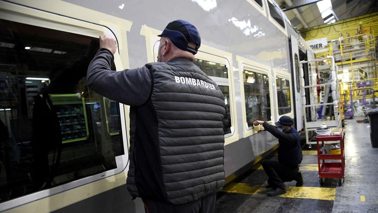 Les risques d'exécutions sur les contrats de Bombardier (ici l'usine de Crespin dans le Nord) avaient déjà débouché sur une provision de 451millions dans ses comptes en décembre, suivie d'une seconde de 632millions dans les comptes d'Alstom.