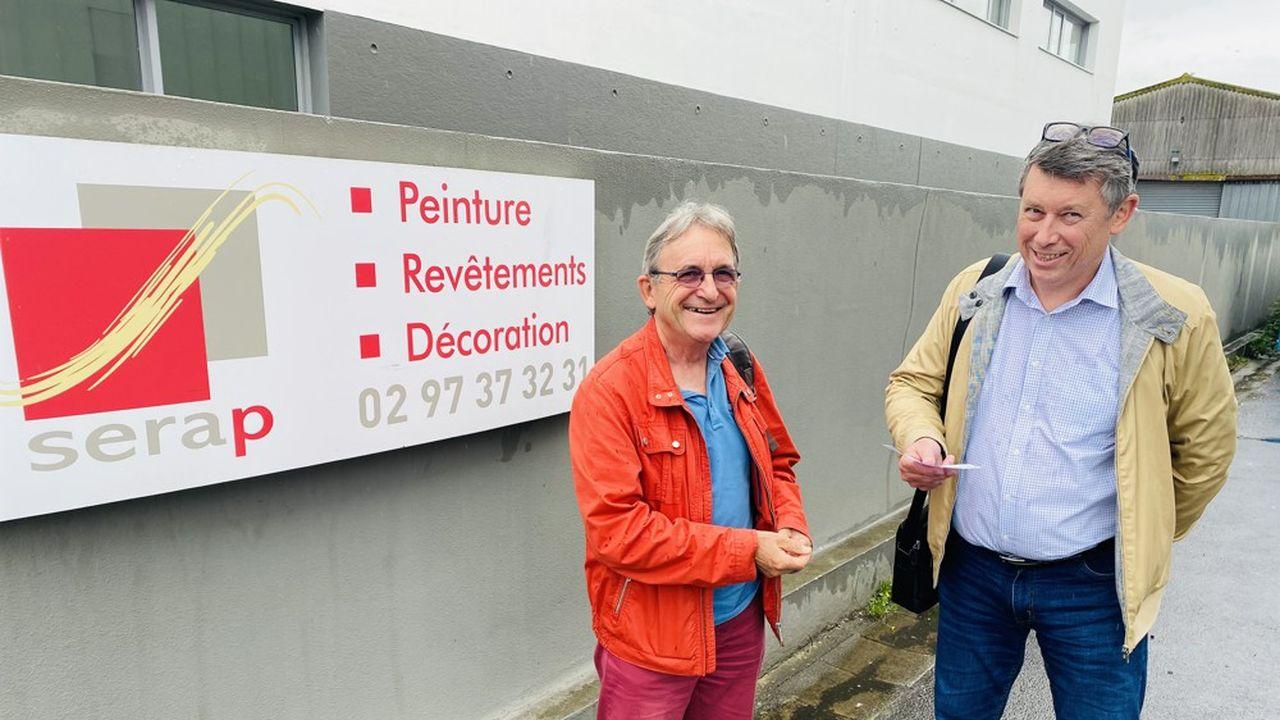 Patrick Knocker (à droite sur la photo) vient de reprendre la société Serap basée à Lorient.