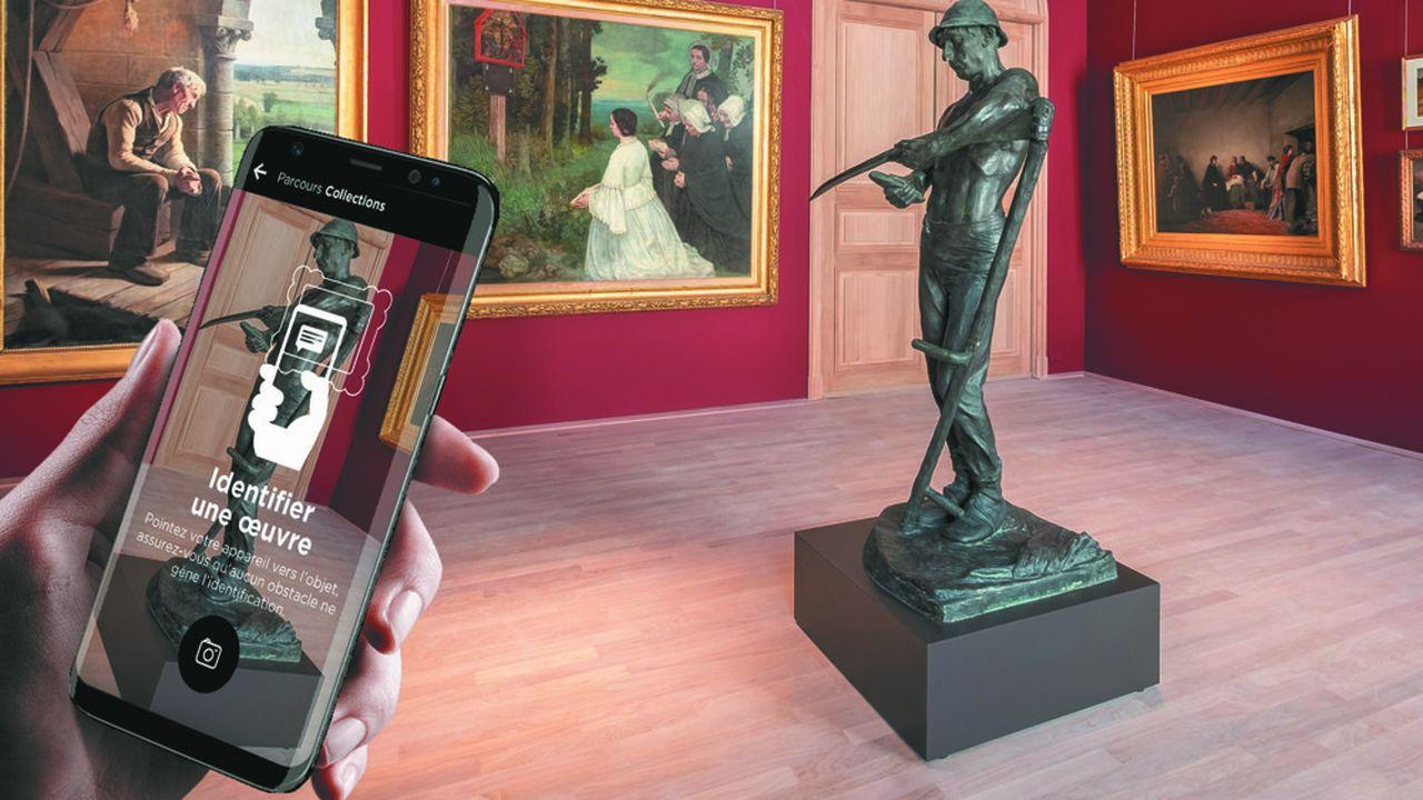 L'application « Nomade » a permis aux visiteurs de découvrir les oeuvres du MBA à distance.