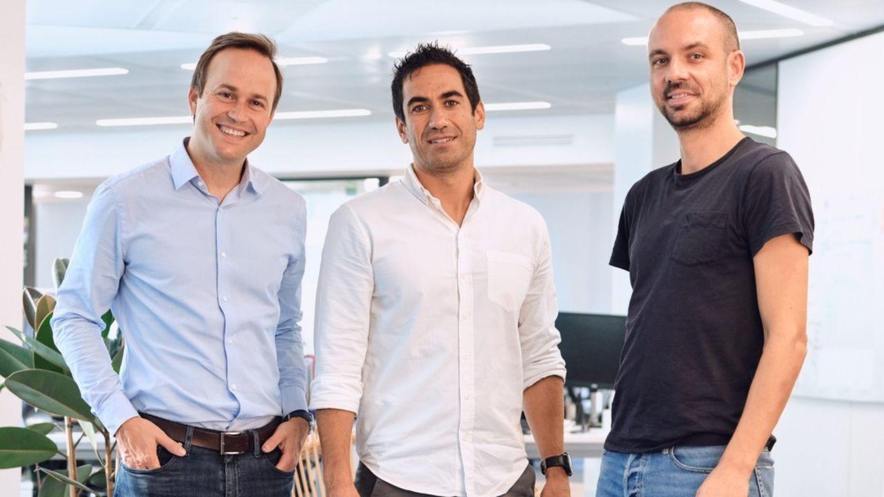 Geoffroy Guigou, Charles Egly etCharles Egly (de gauche à droite) ont fondé la fintechYounited, qui fournit une brique de crédit à la consommation à des e-commerçants ou des opérateurs télécoms comme Freebox ou Microsoft.