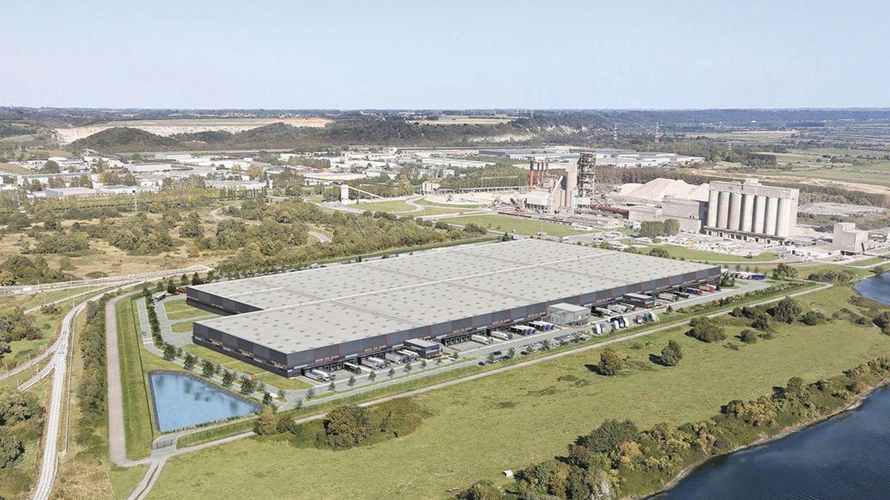 Le bâtiment logistique Havlog, sur les communes de Sandouville et de Saint-Vigor d'Ymonville, dans la zone industrialo-portuaire duHavre, a été financé par AG Real Estate.