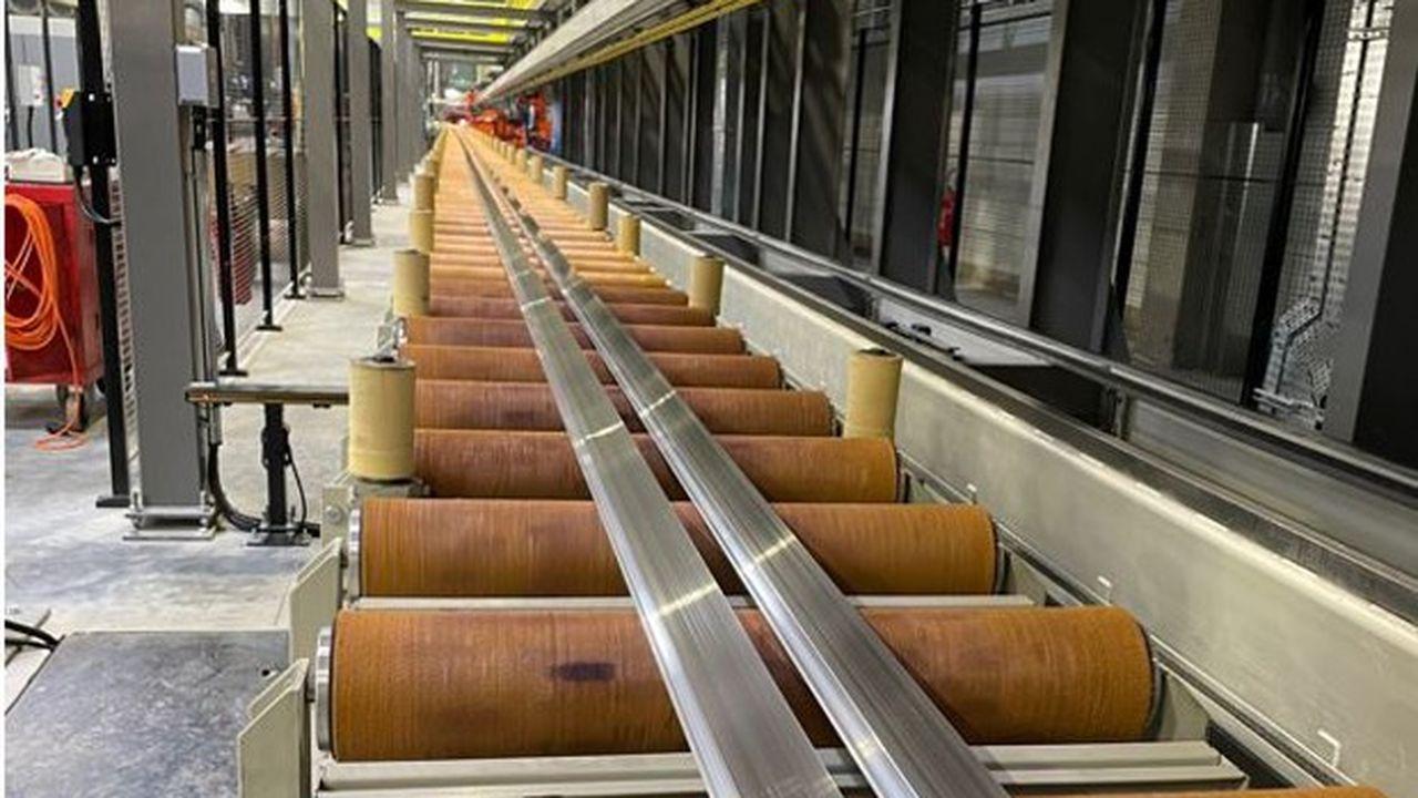 La première usine de production de profilés alu du groupe vendéen Liébot a démarré sa production en juin.