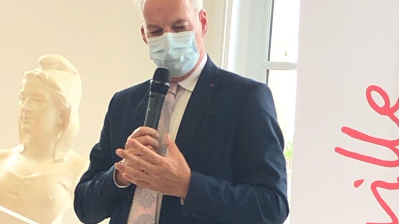 Alain Griset, ministre délégué auprès du ministre de l'Economie, des Finances et de la Relance chargé des Petites et Moyennes Entreprises, était dans les locaux de la foncière SAS Metropolys le 8 juillet.