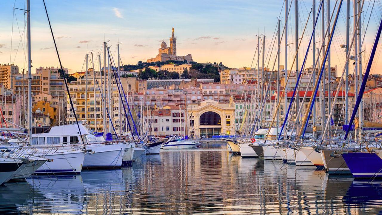 Marseille est la ville la plus attractive, avec peu de départs et beaucoup d'arrivées.