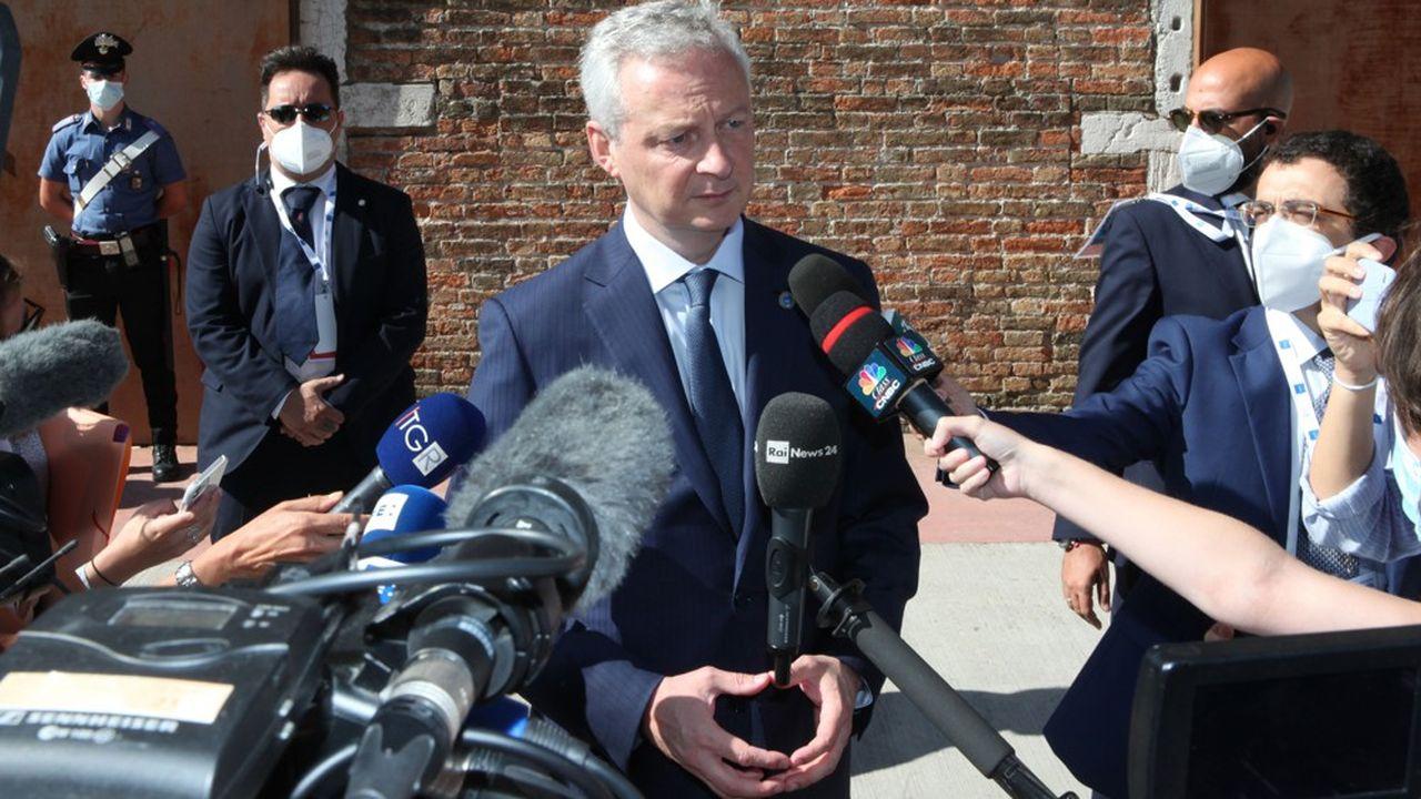 Bruno Le Maire. Le G20 s'est réuni du 9 au 10 juillet à Venise dans le cadre des premiers entretiens en face à face des ministres depuis le début de la pandémie.