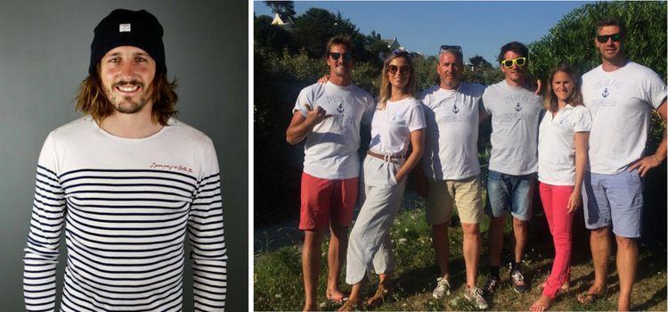 Avec son frère et sa soeur, il a lancé la marque de vêtements «J'PEUX PAS J'AI BELLE-ILE» en 2017.