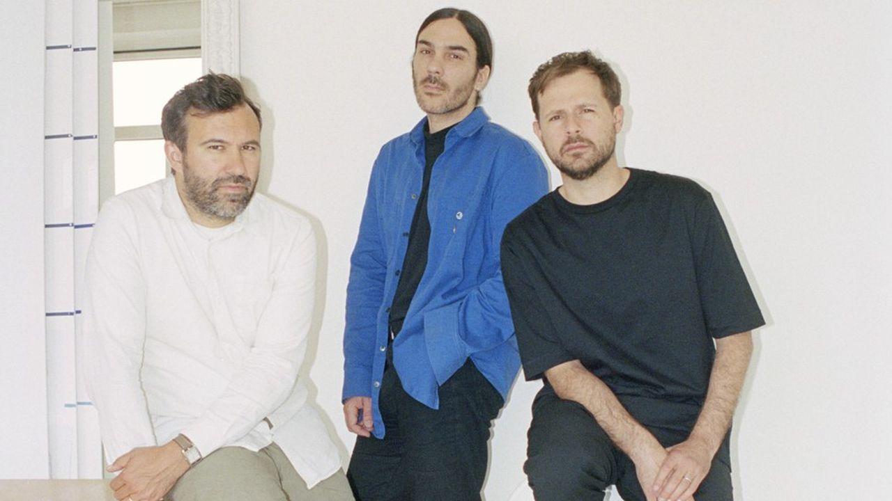 Jose Lamali, Jérémie Egry et Aurélien Arbet, en charge de la marque Etudes.