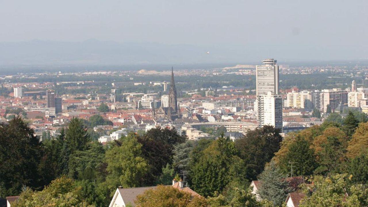 Une vue générale de Mulhouse depuis la Tour du Belvédère.