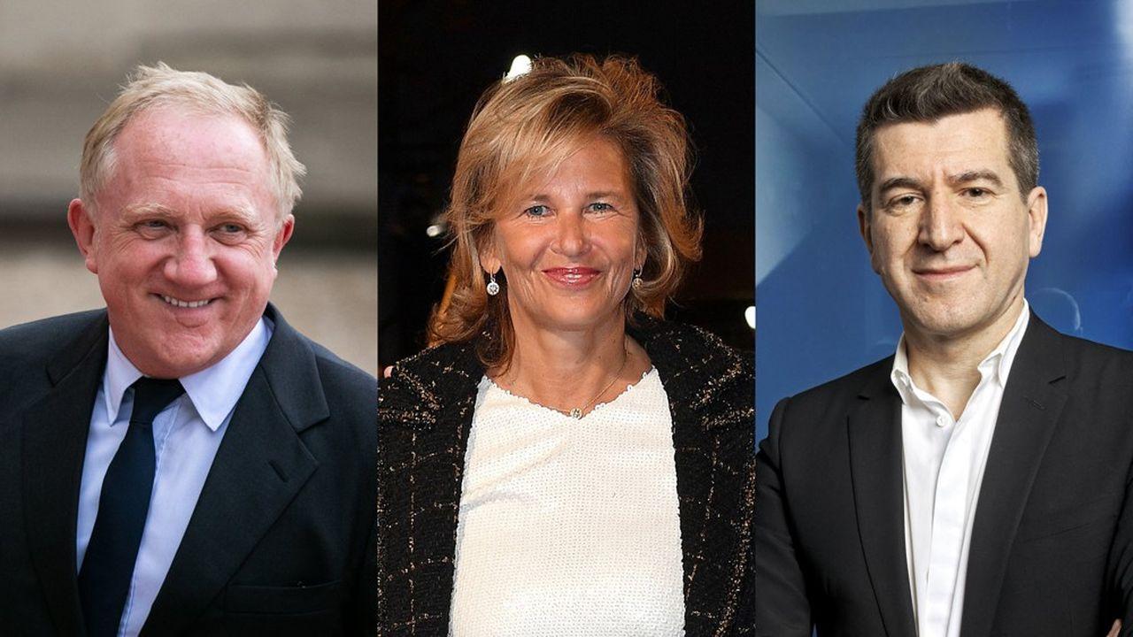 François-Henri Pinault, Iris Knobloch et Matthieu Pigasse.