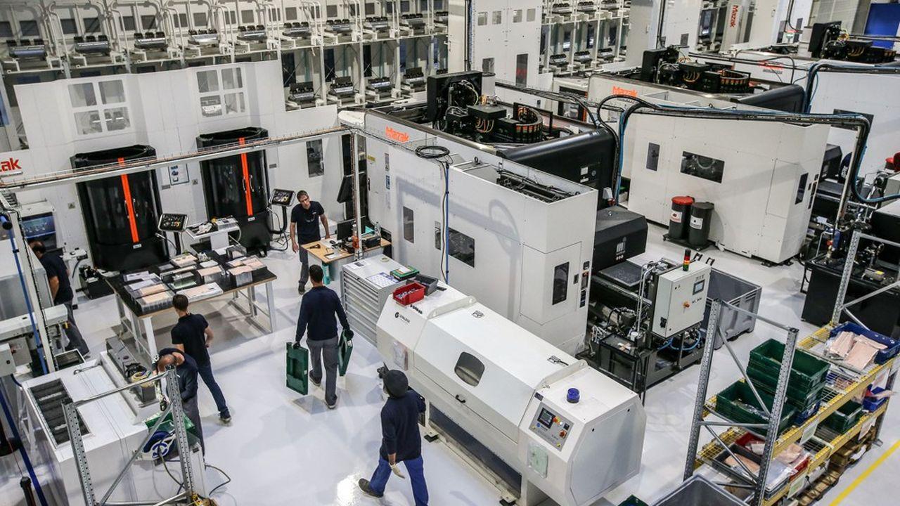 La nouvelle usine 4.0 de pièces d'avions ouverte par Latécoèreen 2018 à Toulouse.