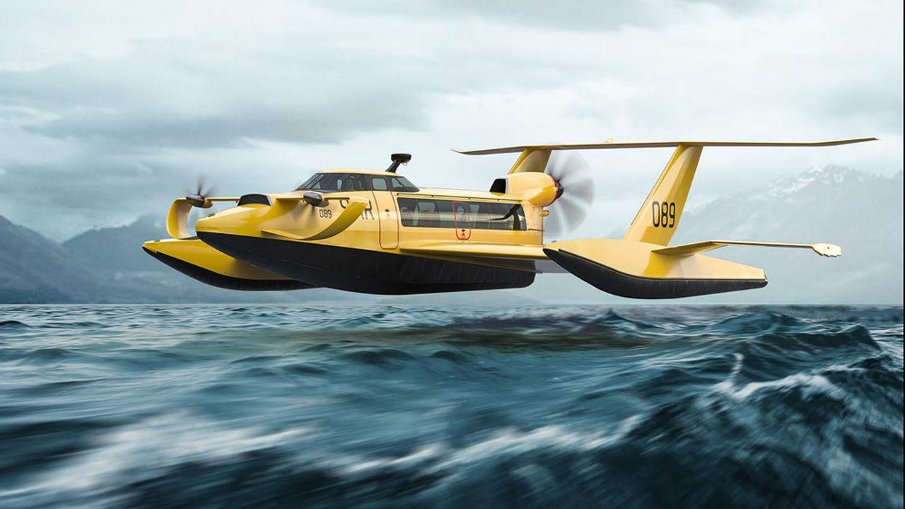Inventé en Russie dans les années 1950, mais oublié depuis, l'ekranoplan ressemble à un hydravion volant à grande vitesse tout juste au-dessus de l'eau.