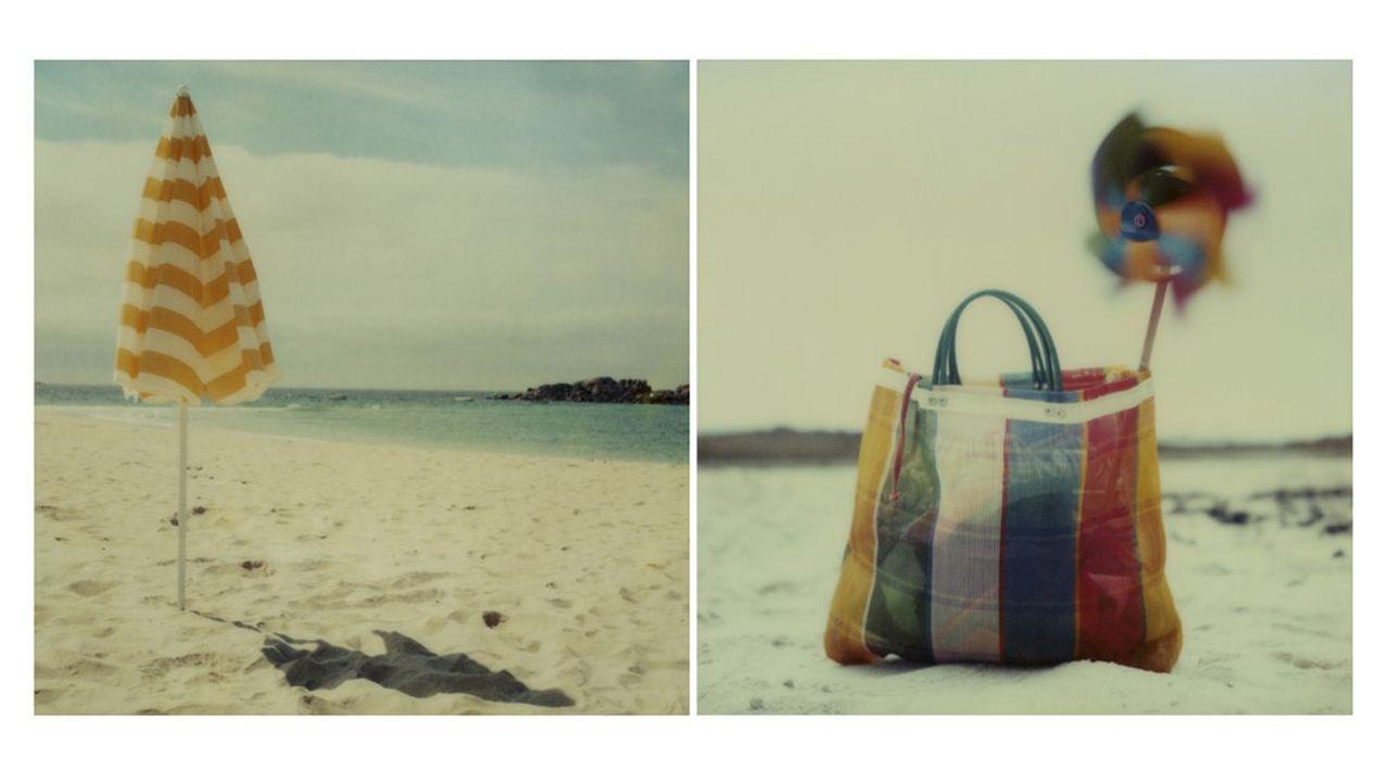 «Parasol on beach».