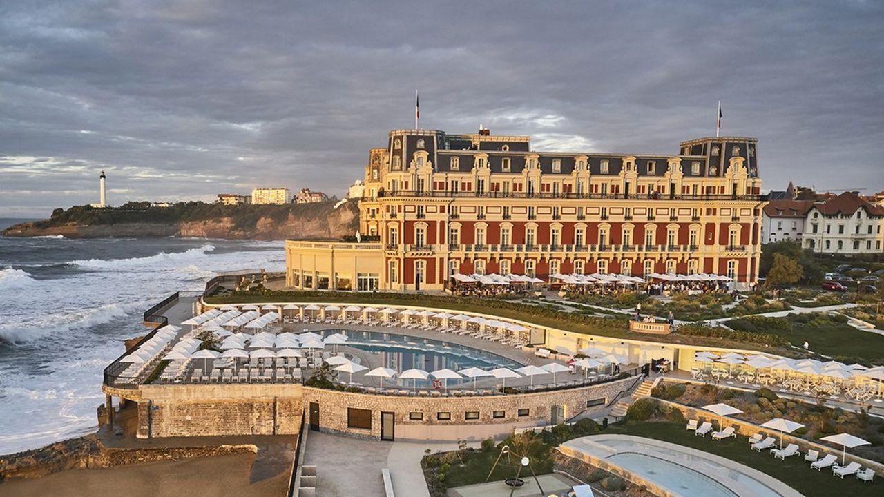 L'hôtel mythique de la côte basque, sur la grande plage de Biarritz.