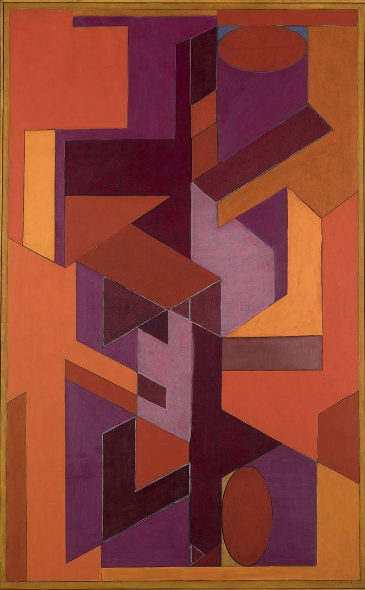 « Ninive», peinture de Victor Vasarely (1949-52).