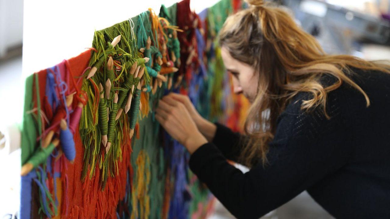 La totalité de la commande de la Nouvelle Fondation Carlsberg au Mobilier national représente 100 mètres carrés de tapisserie.