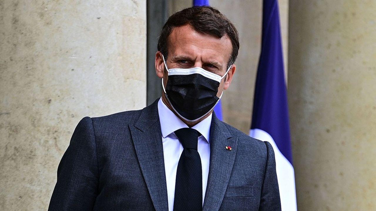 Emmanuel Macron, sur le perron du Palais de l'Elysée, le 21mai dernier.