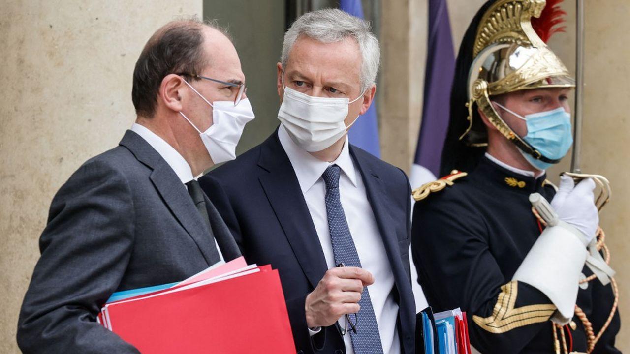 Le Premier ministre Jean Castex et le ministre de l'Economie Bruno Le Maire veulent mettre sur les rails la quasi-totalité du plan de relance dès cette année.