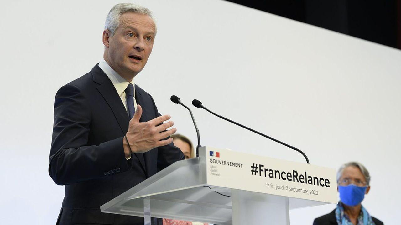 Bruno Le Maire, le ministre de l'Economie, a défendu les choix retenus pour l'enveloppe de 100milliards du plan de relance.