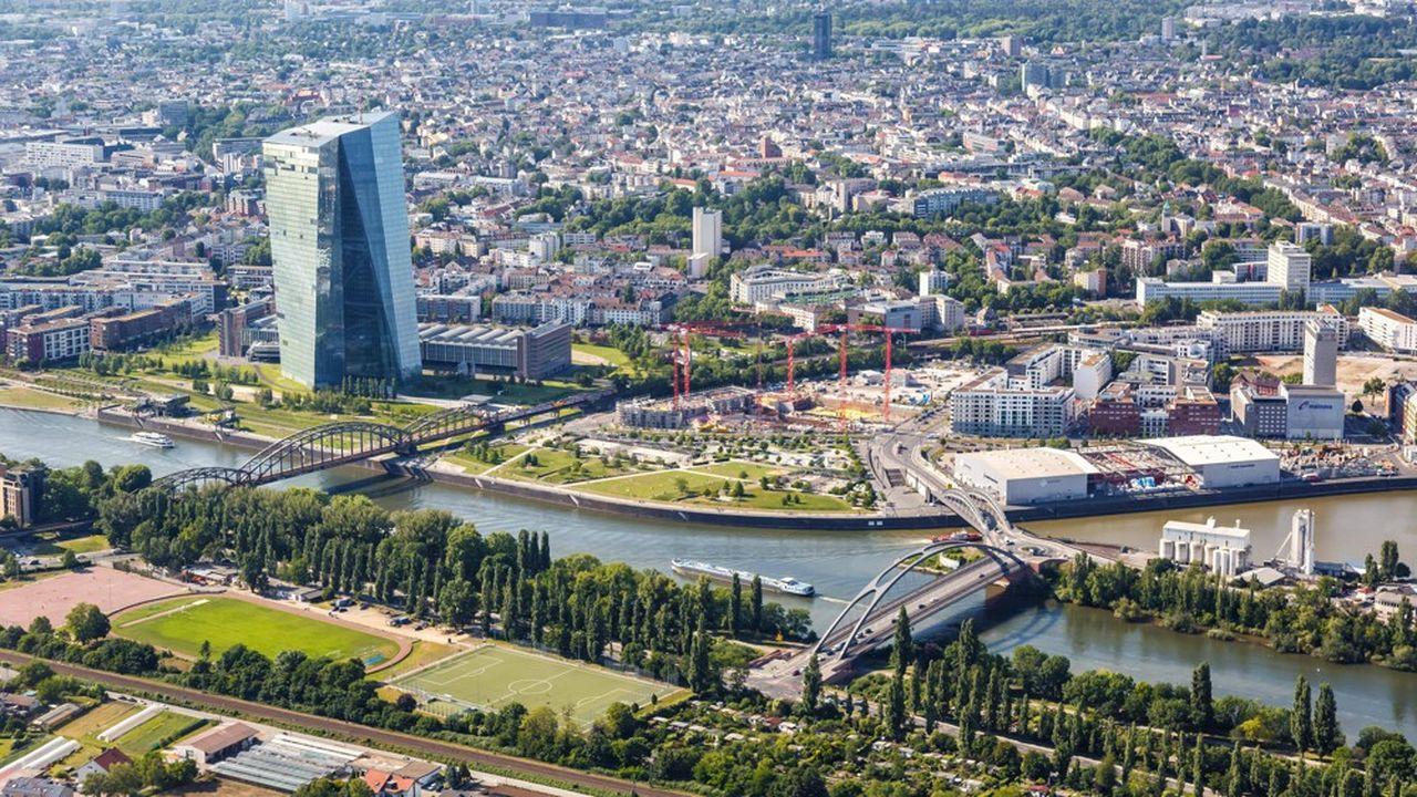 Le siège de la Banque centrale européenne, à Francfort, en Allemagne.