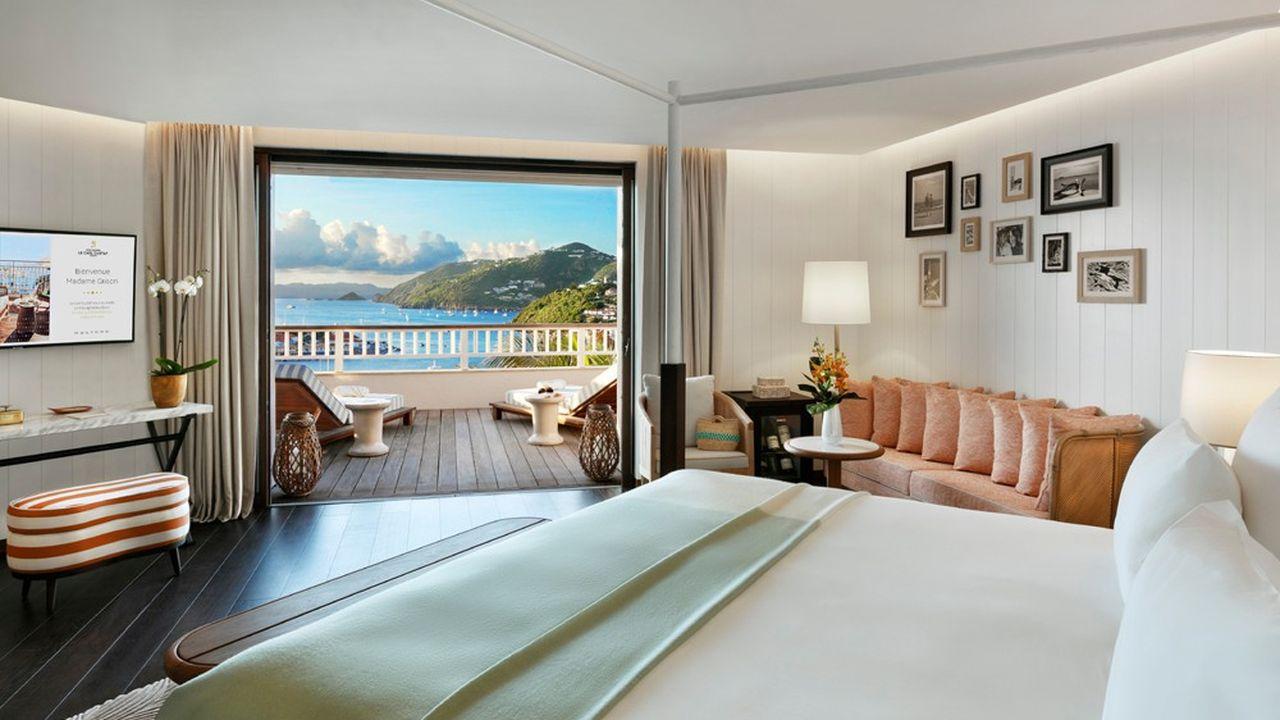 Le groupe Barrière prévoit de créer une «collection» de ses établissements les plus luxueux. Au départ, elle réunira son palace de Courchevel et Le Carl Gustaf de Saint-Barth (photo).