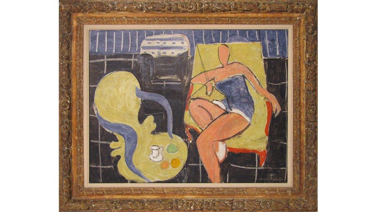 Danseuse dans le fauteuil jaune, chaise vénitienne, d'Henri Matisse (1942), Huile sur toile, 50 x 65 cm, Collection particulière.