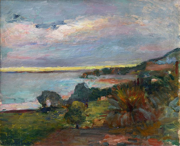 La mer en Corse, Le Scoud, d'Henri Matisse (1898), huile sur toile.