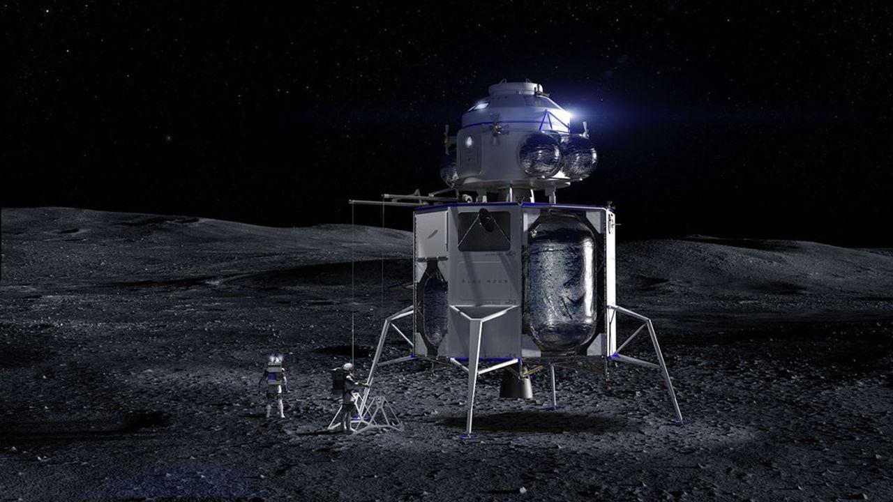 Après sa démission de la présidence d'Amazon, Jeff Bezos devrait se consacrer davantage à son entreprise spatiale Blue Origin. Notamment pour reprendre le lead dans les missions lunaires, après un premier échec contre SpaceX.