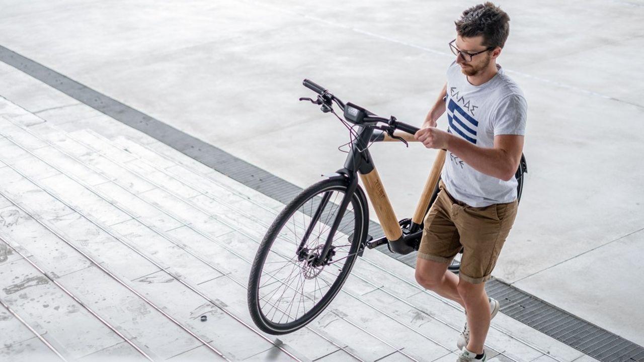 Le vélo Relief est composé d'un cadre en bambou et en lin.