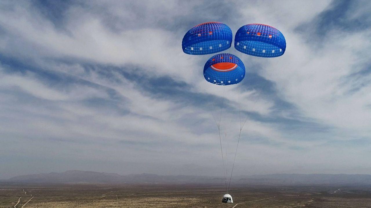 New Shepard est une fusée réutilisable développée par la société Blue Origin pour effectuer des vols suborbitaux.